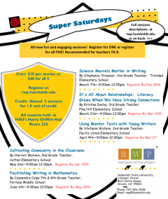 Super Saturdays Flyer